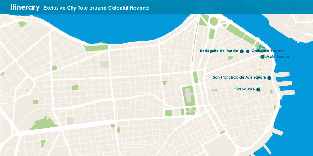Exclusive City Tour around Colonial Havana