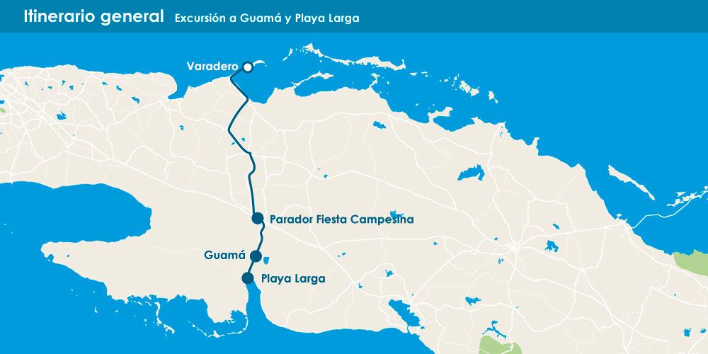 Excursión a Guamá y Playa Larga