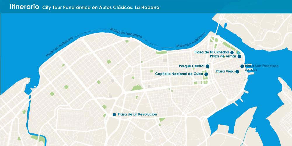 City Tour Panorámico en autos clásicos por La Habana