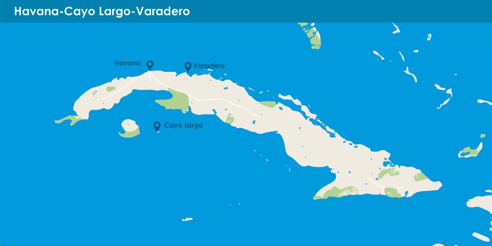 Havana + Cayo Largo + Varadero in 10 nights
