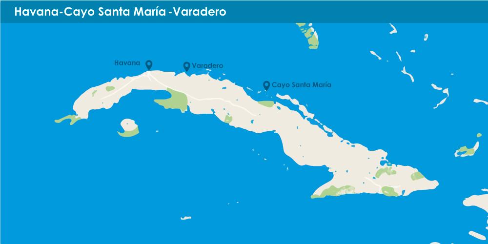 Havana + Cayo Santa María + Varadero in 10 nights